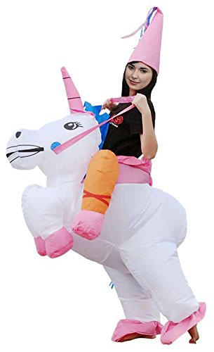 ilishop Fancy Dress Inflatable Unicorn Rider Halloween Costume for Adult