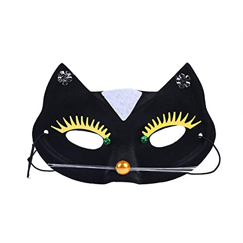 jingyuu Cat Novelty Halloween Masks Costume Masquerade Party Dance Party Prom Cosplay Mask