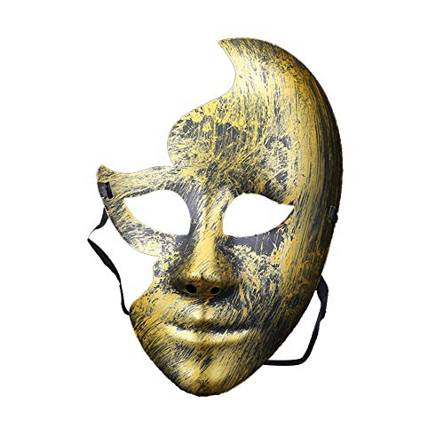 jingyuu Half Face Mask Novelty Halloween Masks Costume Masquerade Party Dance Party Prom Cosplay Mask