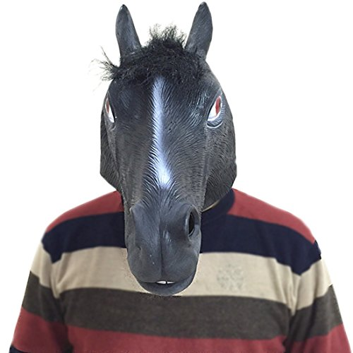 jingyuu Horse Head Novelty Halloween Masks Costume Masquerade Party Dance Party Prom Cosplay Mask