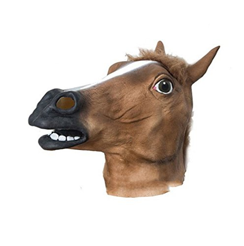 jingyuu Horsehead Novelty Halloween Masks Costume Masquerade Party Latex Dance Party Prom Cosplay Mask