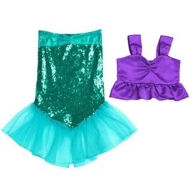 ranrann-Kids-Girls-2PCS-Shiny-Sequins-Halloween-Cosplay-Costume-Theme-Party-Tops-with-Skirts-Outfits-0
