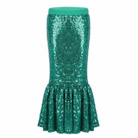ranrann-Kids-Girls-Shiny-Sequins-Halloween-Cosplay-Party-Costume-Maxi-Skirt-Green-3-0