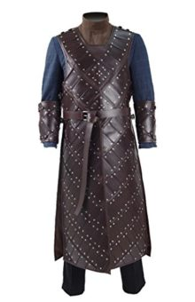 2017-Hot-TV-Drama-Snow-Costume-Knights-Brown-Leather-Armor-Cosplay-Outfit-0