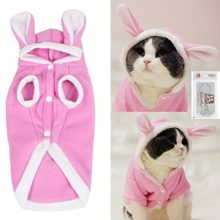 BroBear-Plush-Rabbit-Outfit-with-Hood-Bunny-Ears-for-Small-Dogs-Cats-Pink-0
