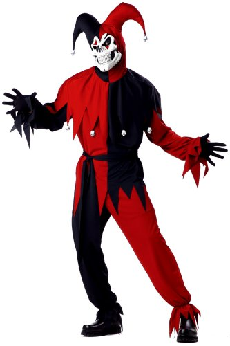 California Costumes Men's Adult- Red Evil Jester Costume