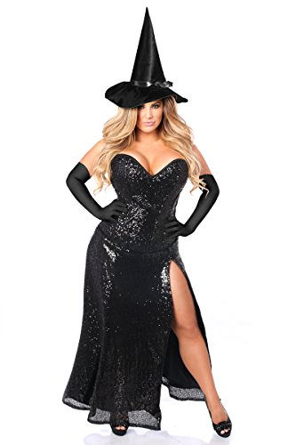 Daisy Corsets Women's Top Drawer Premium Sequin Witch Corset Costume