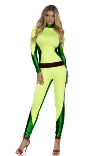 Forplay Women's Out For Vengeance Superhero Catsuit and Belt