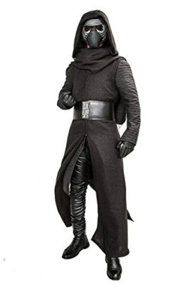 Mens-Kylo-Ren-Cosplay-Robe-Under-Tunic-Gloves-Scarf-Belt-Outfit-Costume-0