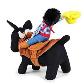 NACOCO-Cowboy-Rider-Dog-Costume-for-Dogs-Outfit-Knight-Style-with-Doll-and-Hat-for-Halloween-Day-Pet-Costume-0-0