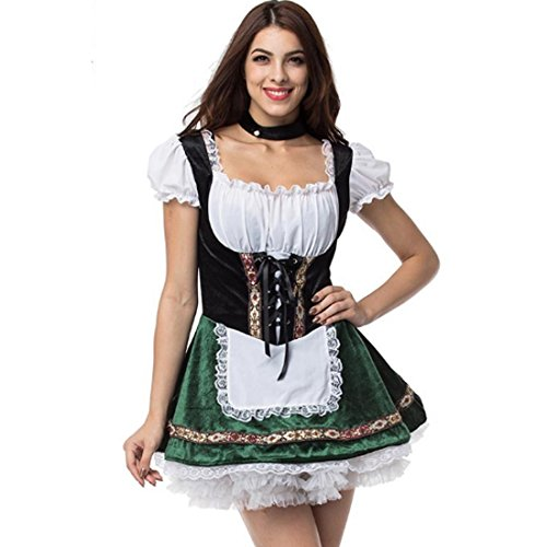 Oktoberfest Halloween Costumes For Cospaly Beer Maid Fancy French Maid Dresses
