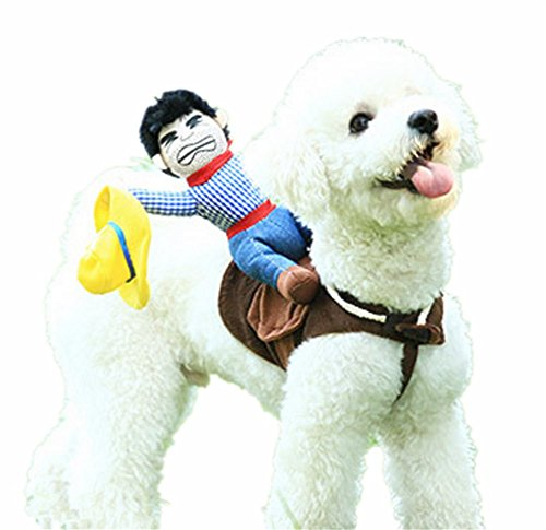 Pet Costume Dog Costume Pet Suit Cowboy Rider Style by DELIFUR
