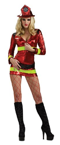 Secret Wishes Women's Fearless Firefighter Sassy Adult Costume