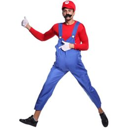 80s-Mens-Adult-Super-Mario-Luigi-Plumber-Bros-Workmen-Game-Fancy-Dress-Costume-0