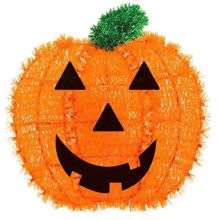 Amscan-Friendly-Tinsel-Pumpkin-Halloween-Trick-or-Treat-Hanging-Decoration-Orange-13-x-12-0
