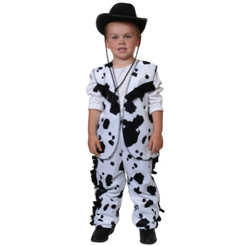 Cow Print Cowboy Costume (Choose Size)