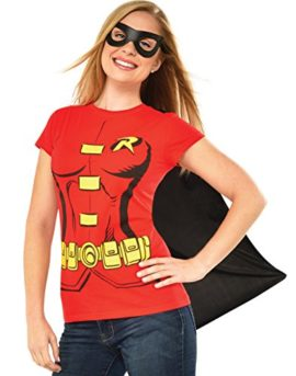 DC-Comics-Womens-Robin-T-Shirt-With-Cape-And-Eye-Mask-0