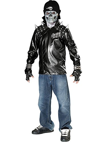 Dead City Choppers Child's Metal Skull Biker Rider Costume