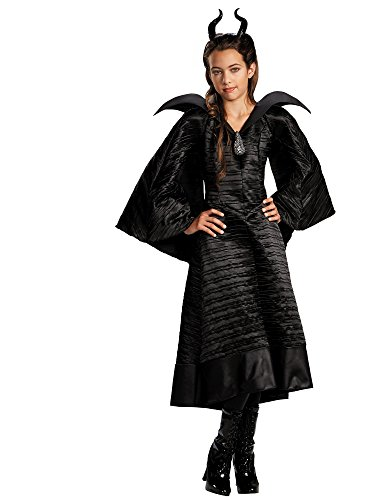 Disguise Disney Maleficent Movie Christening Black Gown Girls Deluxe Costume