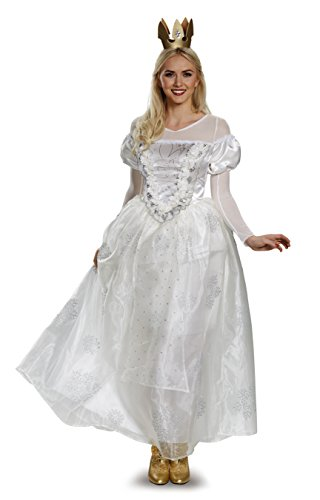 Disney Women's Alice White Queen Deluxe Costume