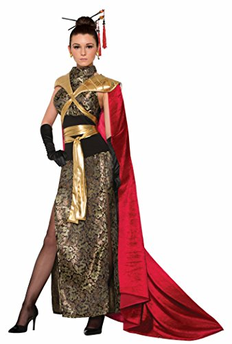 Forum Women's Dragon Empress Deluxe Costume Dress with Full Length Cape