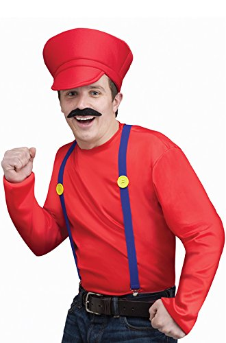 Fun World Mens's Video Game Guy Kit Mario Luigi Red Green Standard Adult Costume