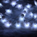 Halloween-String-LightsER-CHENTM-40-LED-Ghost10Ft-Long-Battery-Operated-Silver-Wire-String-Lights-with-RemoteTimer-for-IndoorCovered-OutdoorHalloween-Parties-Home-Decorations-0