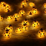 Halloween-String-LightsER-CHENTM-40-LED-Ladybird10Ft-Long-Battery-Operated-Silver-Wire-String-Lights-with-RemoteTimer-for-IndoorCovered-OutdoorHalloween-Parties-Home-Decorations-0-2