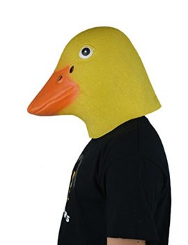 LarpGears-Deluxe-Novelty-Halloween-Latex-Duck-Mask-Adult-Size-Yellow-and-Blue-0-0