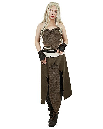 Miccostumes Women's A Song of Ice And Fire Daenerys Targaryen Brown Cosplay Cosutme