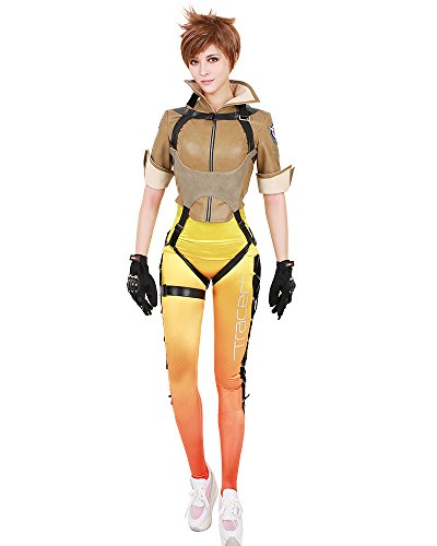 Miccostumes Women's Tracer Lena Oxton Cosplay Costume