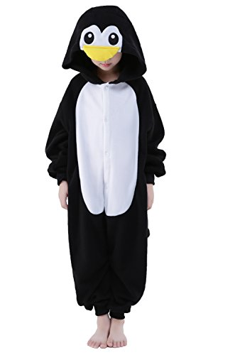 Newcosplay Unisex Children Penguin Pyjamas Halloween Costume