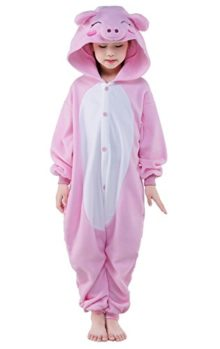 Newcosplay-Unisex-Children-Pink-Pig-Pyjamas-Halloween-Costume-0