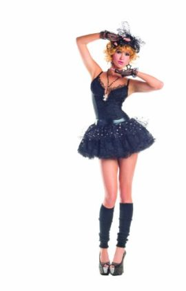 Party-King-Material-Pop-Star-Womens-4-Piece-Costume-Dress-Set-0