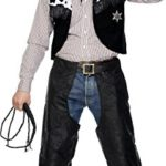 Smiffys-Mens-Cowboy-Leather-Costume-with-Chaps-Waistcoat-Belt-and-Neckerchief-0-0