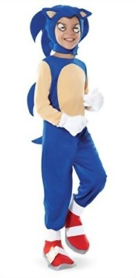 Sonic-the-Hedgehog-Sonic-Child-Costume-Size-Large-  sc 1 st  Halloween Costumes Best & Sonic the Hedgehog - Sonic Child Costume Size: Large - Halloween ...