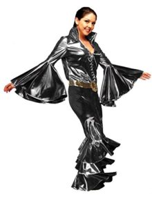 Womens-1970s-Disco-Queen-Rock-Star-Costume-Sold-Separately-Silver-0