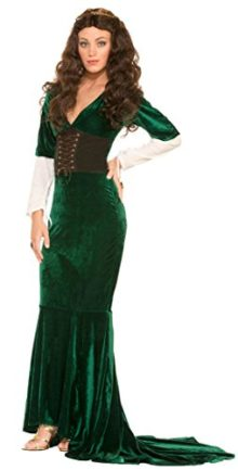 Womens-Medieval-Sexy-Green-Revealing-Princess-Queen-Thrones-Game-Costume-0