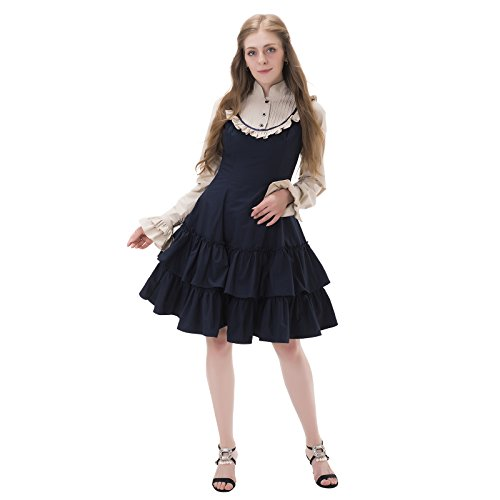 1791's lady Long Sleeves Gothic Lolita Dresss NQLLT0002