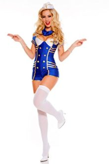 3-PC-Ladies-Provocative-Stewardess-Romper-Set-0