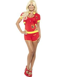 Baywatch-Beach-Movie-Lifeguard-Costume-Womens-Babe-Swimsuit-Shorts-Jacket-XS-MD-0