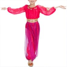 BellyLady-Kid-Tribal-Belly-Dance-Costume-Harem-Pants-Top-For-Halloween-0