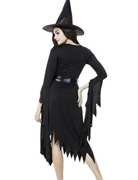 Colorful-House-Women-Halloween-Classic-Black-Witch-Costume-with-Cap-0-1