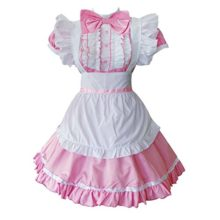 Colorful-House-Womens-Cosplay-Cat-Ear-French-Apron-Maid-Fancy-Dress-Costume-0