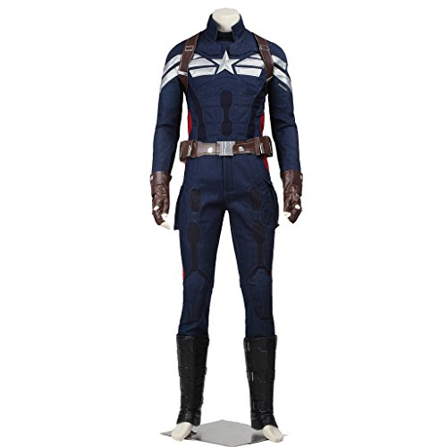 CosplayDiy Men's Costume for Captain America 2 The Winter Soldier Cosplay
