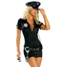 Cuteshower-Womens-Sexy-Police-Uniform-Cop-Costume-with-Handcuffs-0
