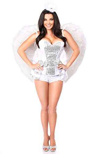 Daisy Corsets Women's Plus-Size Top Drawer 5 Piece Innocent Angel Costume