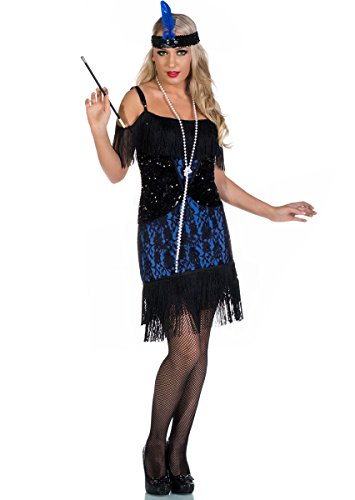 Elevate Costumes Deluxe Miss Elsie Blue and Black Flapper Costume