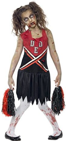 Girls-Halloween-Fancy-Dress-Zombie-Cheerleader-Costume-Complete-Dress-0