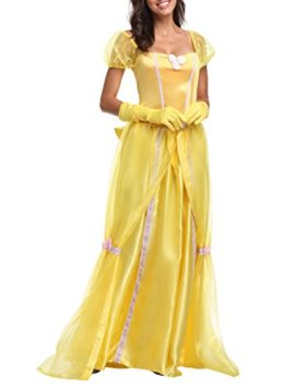 JANES-CUTLE-Womens-Fairytale-Princess-Dress-Halloween-Party-Cosplay-Costume-Yellow-Maxi-Dress-0-0